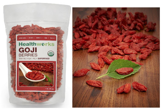 Raw Organic Goji Berries By Healthworks