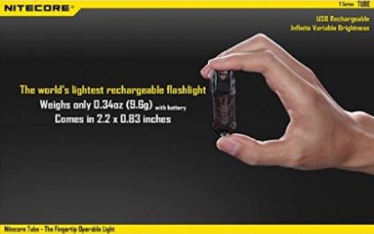 NiteCore T-Series Tube Infinitely USB Rechargeable Flashligh…