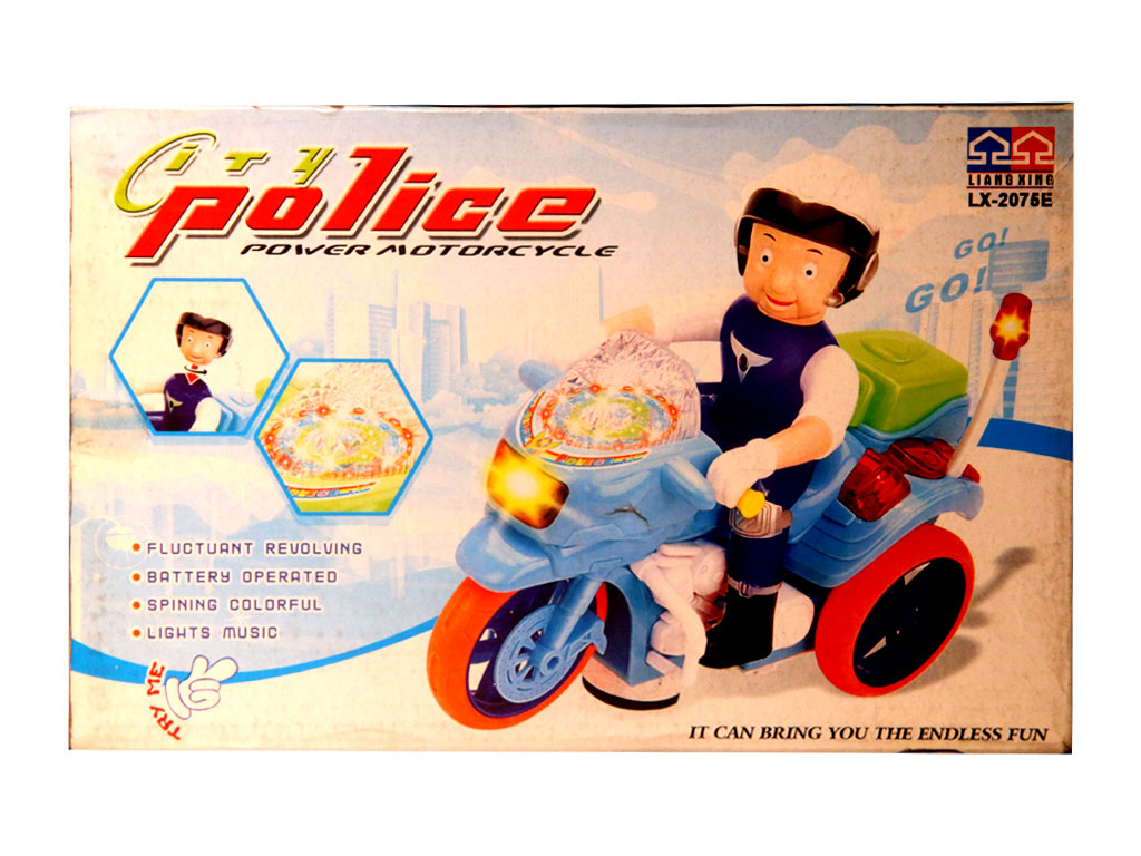 City police motor cycle for kids