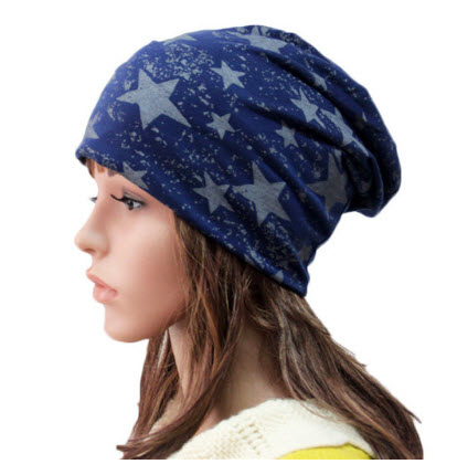 Elastic Knitted Cotton Hip Pop Hats Autumn Winter Cap For Wo…