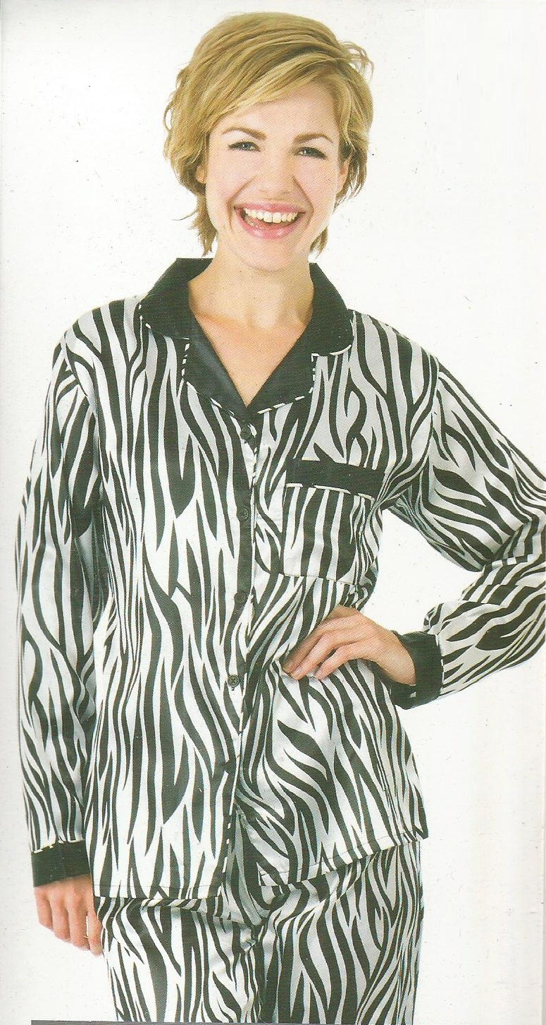 Loose Night Dress with Zebra Print