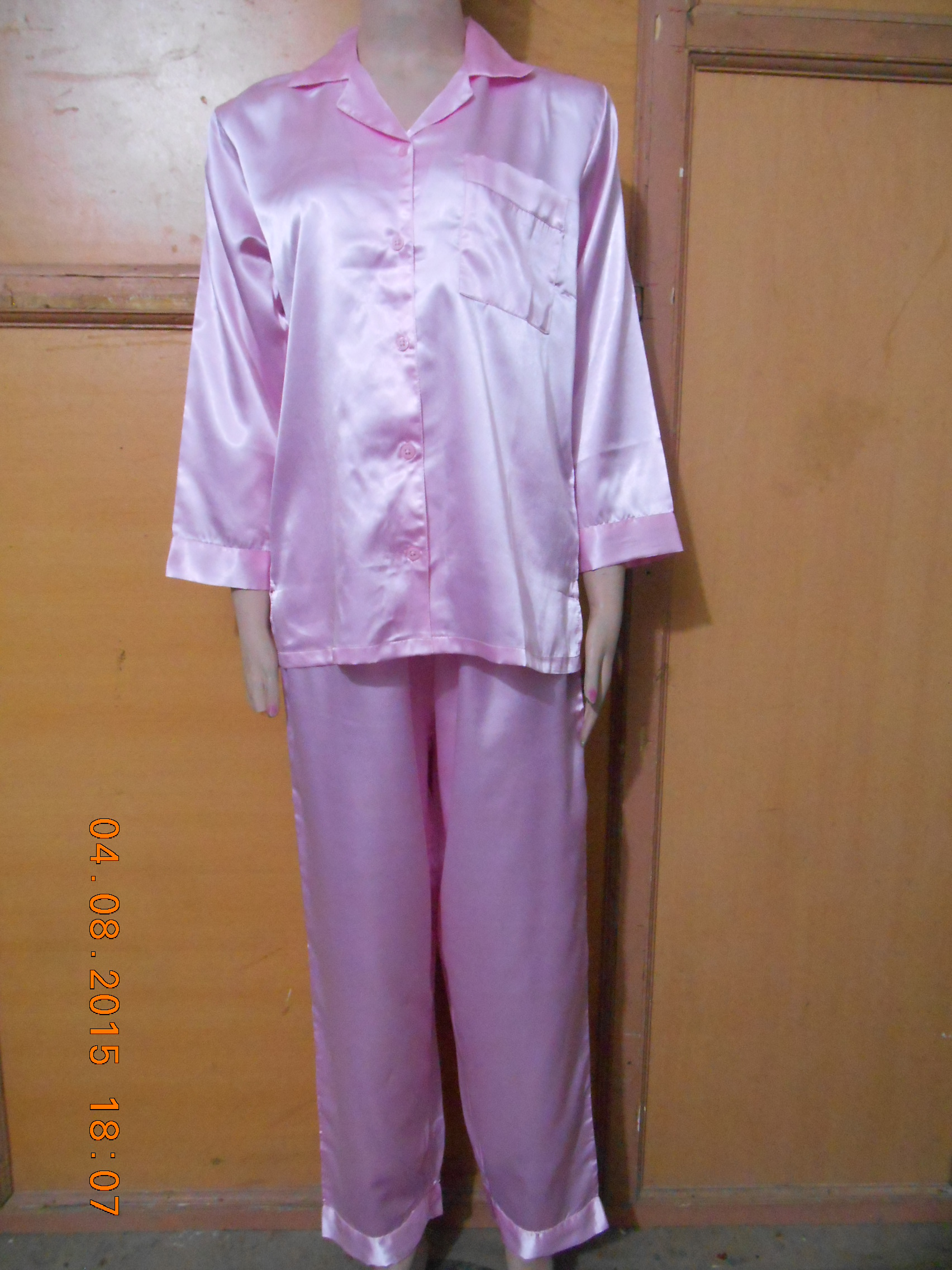 Powder pink PJ set night wears