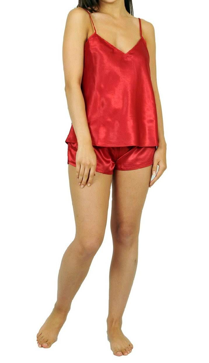 CAMI night wear in dark red