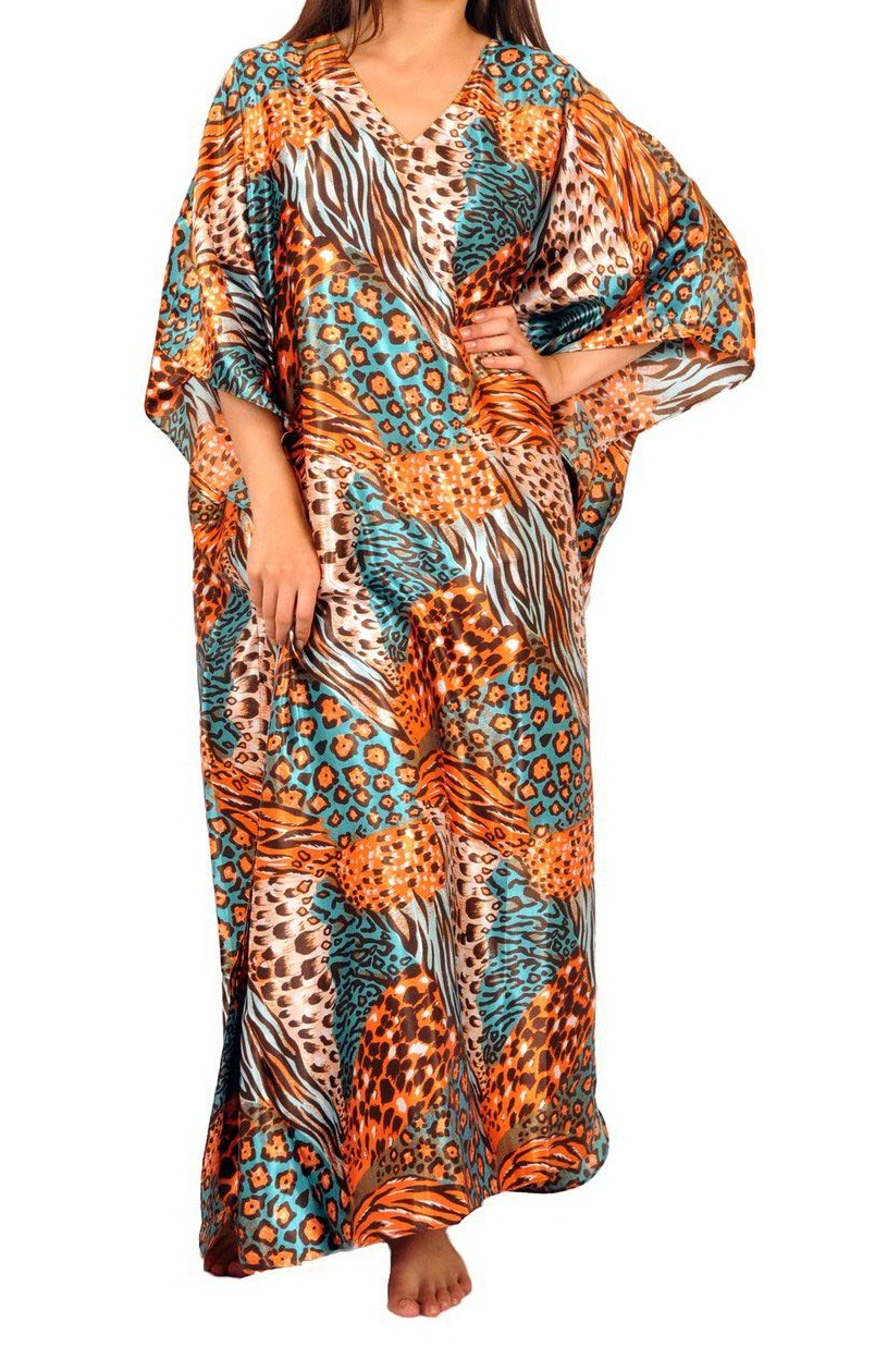 Pure polyester Multi color caftan