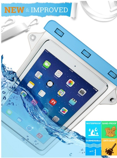 iGen iPad Waterproof Case for Apple iPad Air 2, 3