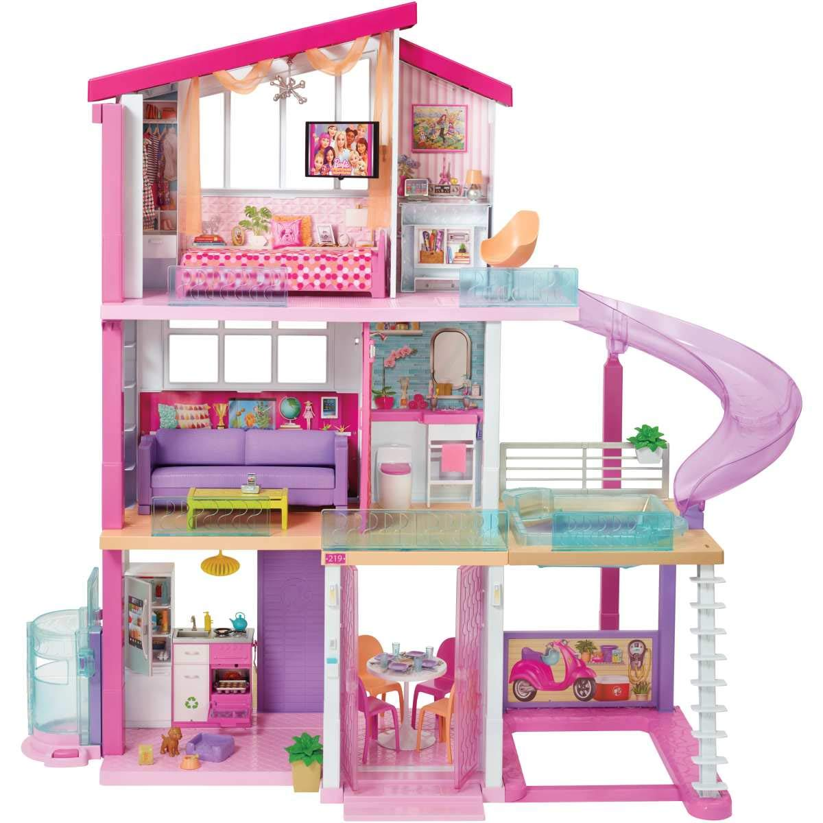 Barbie doll dream house For Girls - Pink
