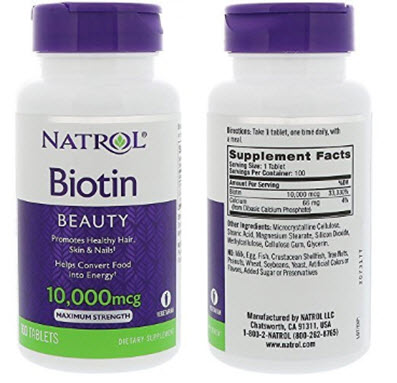 Biotin 10,000 mcg Maximum Strength Tablets
