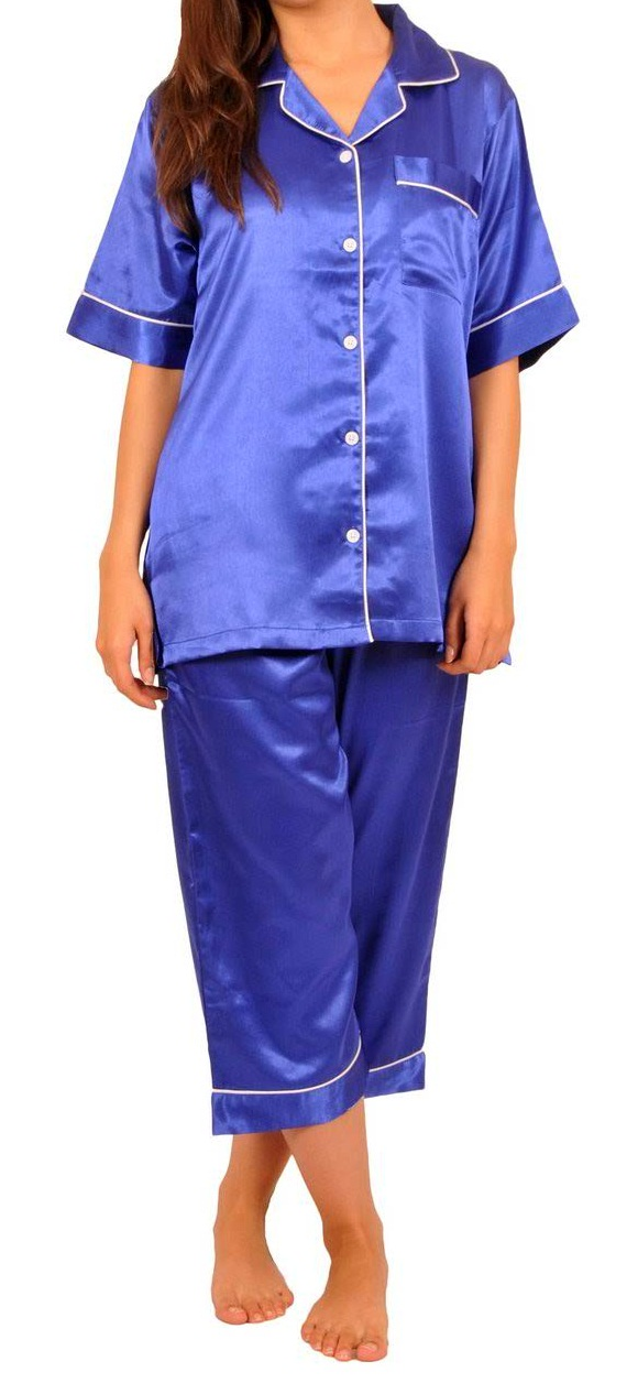 Dreamy Royal Blue PJ SET  With Piping