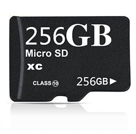 Generic Micro SDXC Memory Card with SD Adapter - 256GB