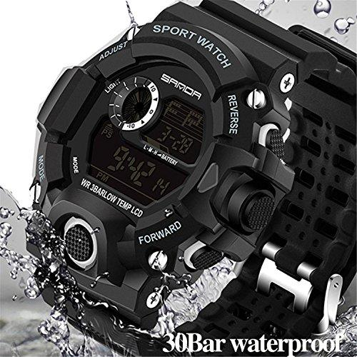 Wdnba Men Sport LED Digital Watch