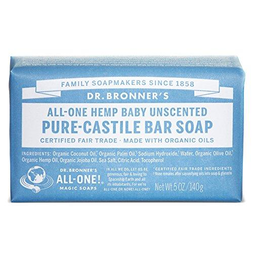Dr. Bronner s Pure Castile Bar Soap - Baby Unscented