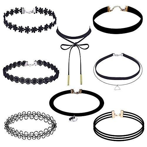 Outus Velvet Gothic Tattoo Lace Choker Necklaces For Her
