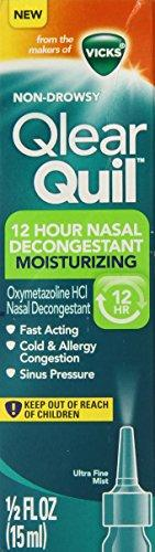 Vicks Qlear Quil Nasal Moisturizing Decongestant Spray 15ml