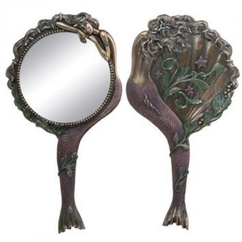 Art Nouveau Collectible Mermaid Hand Mirror Nymph Decoration…