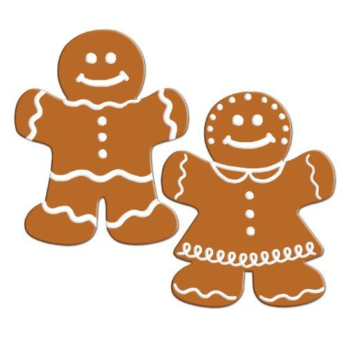 Beistle 2-Pack Gingerbread Cutouts