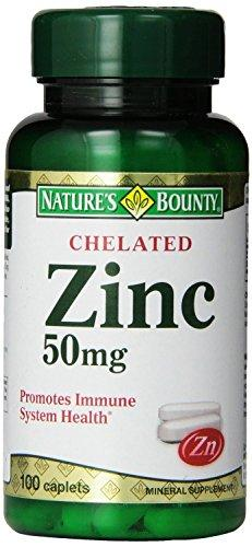 Nature s Bounty Chelated Zinc (Zinc Gluconate) 50mg