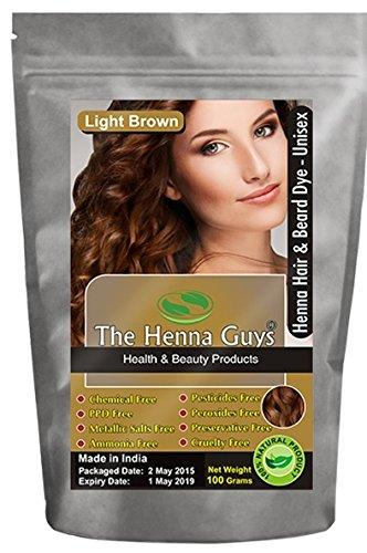 Light Brown Henna Hair & Beard Dye Color