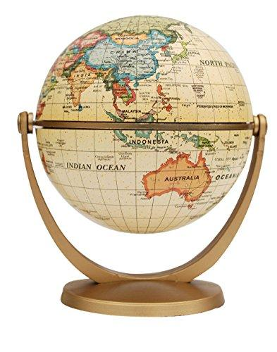 Political Antique Ocean Swivel and Tilt Globe, 4-Inch By Ste…
