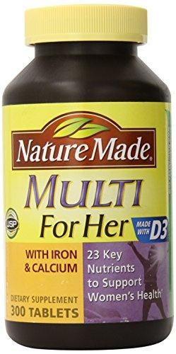 Nature Made Multi for Her With Iron & Calcium - 300 Tablets
