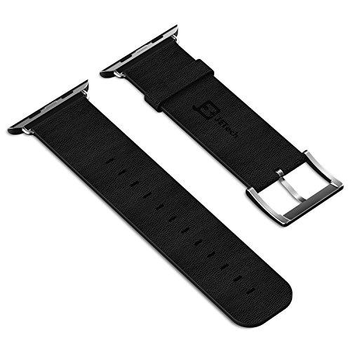 JETech Leather Strap With Metal Clasp for Apple Watch All Mo…