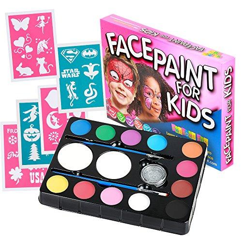 Face Paint Kit with 30 Stencils