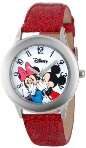 Disney Mickey and Minnie Mouse Stainless Steel Watch for Kid…
