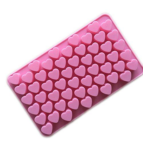Mini Heart Shape Silicone Mold Ice Cube / Chocolate - Pink