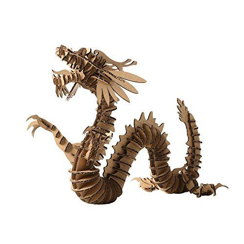 3D Jigsaw Puzzle Dragon DIY Craft Gifts Home Decoration (Sma…