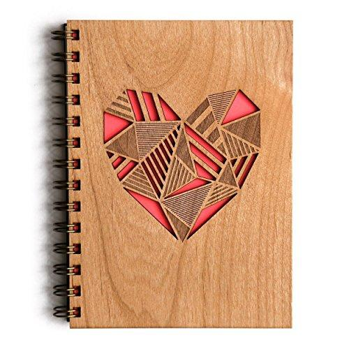 HAnd Made Lasercut Wood Journal -  Heart