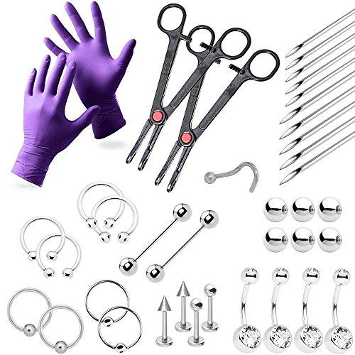 Professional Piercing Kit Gloves and Tools Included