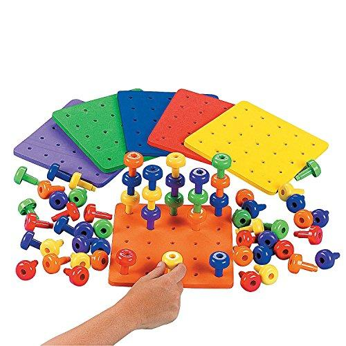 Stack It Peg Game With Board by Fun Express