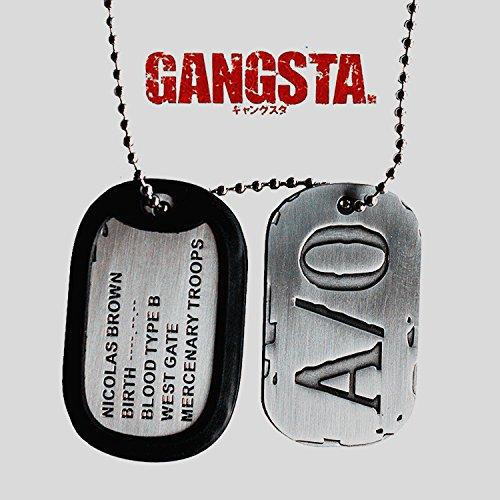 Gangsta Nicolas Brown A/0 Anime Cosplay Dog Tag Necklace