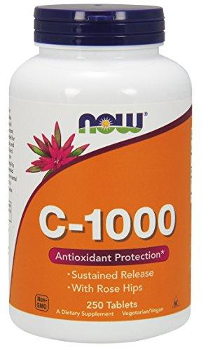 NOW Foods Vitamin C-1000 Sustained Release - 250 Tablets