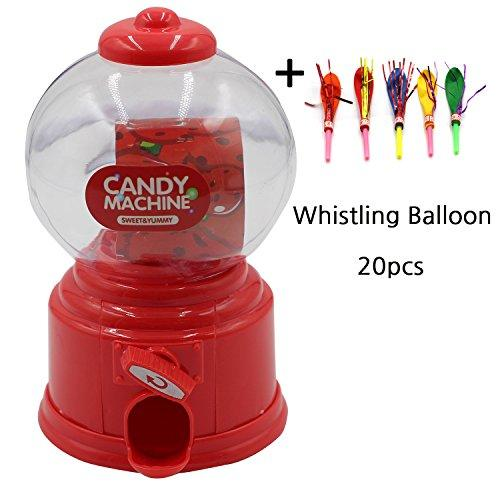 Mini Candy Machine with Whistle Balloon for kids Birthday Party