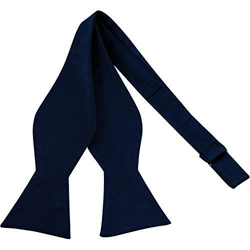 Luther Pike Self Tie Bow Ties For Men (Navy Blue)