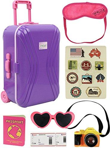 Doll Travel Carry on Suitcase Luggage 7 Piece Set for 18 inc…