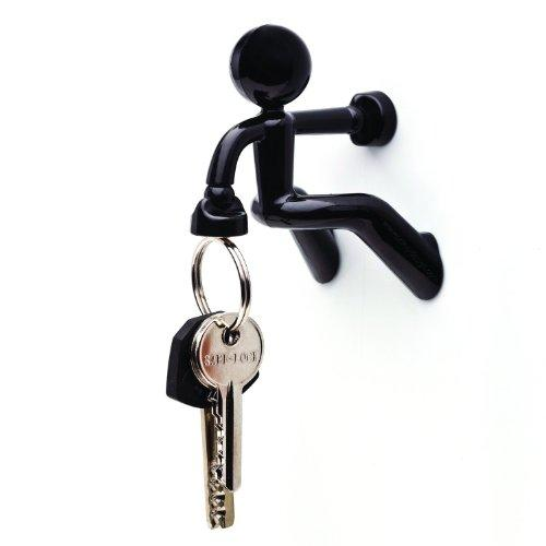 Key Pete Strong Magnetic Key Holder Hook Rack Magnet - Black…