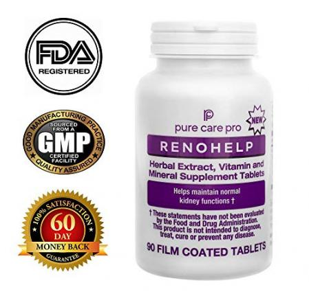 Pure Care Pro Renohelp All Natural Kidney Support Supplement…