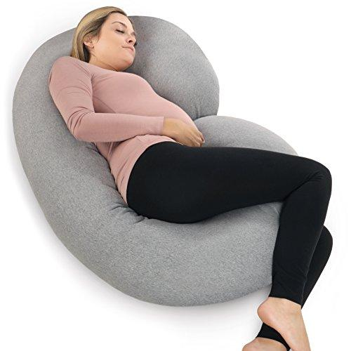 PharMeDoc C Shaped Pregnancy Pillow with Jersey Cover