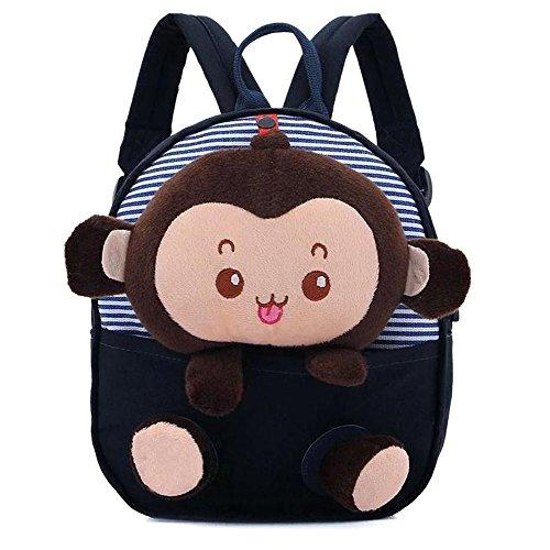 3D Monkey Little Backpack Plush Bag for Toddlers Kids