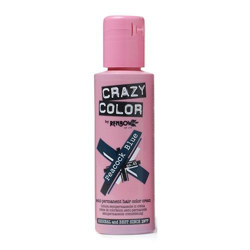 Crazy Color,  Peacock Blue - Semi Permanent Hair Color Cream