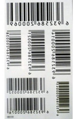 Barcode Temporary Tattoos Stickers - 2pcs/lot