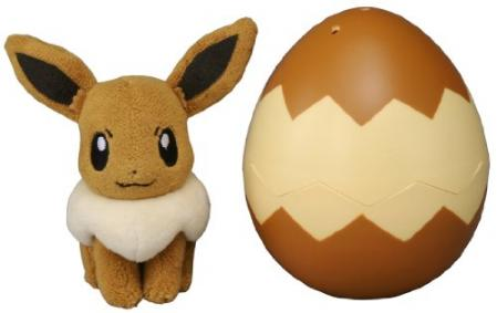 Takaratomy Pokemon Eevee Egg Plush Doll