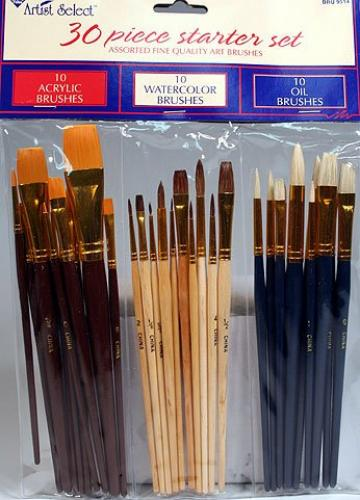 Fine Art Paint Brushes for Acrylic, Oil, Watercolors