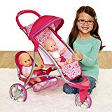 Chicco Double Jogger Stroller for Baby Dolls, 1-Pink, Small, [Amazon Exclusive] Chicco