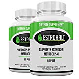 Estrohalt 2 Pack- DIM Supplement (Diindolylmethane) and Indole-3-Carbinol (I3C) Best Estrogen Blocker for Women & Men | Natural Aromatase Inhibitor Vitamin to Help PCOS, Menopause, and PMS Addrena