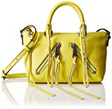 Rebecca Minkoff Micro Moto Satchel Cross Body, Limeade, One Size