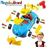 Take Apart Toy Racing Car Kit For Kids W Electric Toy Drill, Lights and Sounds - Build Your Own Car Toy For Boys & Girls age 3, 4, 5, 6 yrs - 12 years old Best Gift For Kids ToyVelt