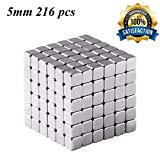 Brain Teaser,5MM 216-Pieces Square Cube Toy,DIY Magic Sculpture Building Blocks Toy for Children Intelligence Learning & Office Toy for Stress Relief,Best Christmas Gift for Kids or Adults,Silver 18 JTianYun