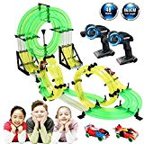 Syslux RC Car with Track, Racing Track Car,28.3ft Car Race Track Set Speeding Racing Car with 3D Track,2 Cars, 2 Hand-Operated Controllers, Assembly for Children Educational Toy Birthday Syslux
